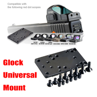 Tactics Gun accessory Universal Rear Sight Plate Base Mount For Glock Red Dot Sight Caliber Free Shipping