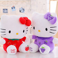 Cute Kitty Plush Toy Pink Strawberry Red Apple Kitty Wear Fruit Clothes Soft Doll Huge Plush Toy Kids Toy Gift For Girl
