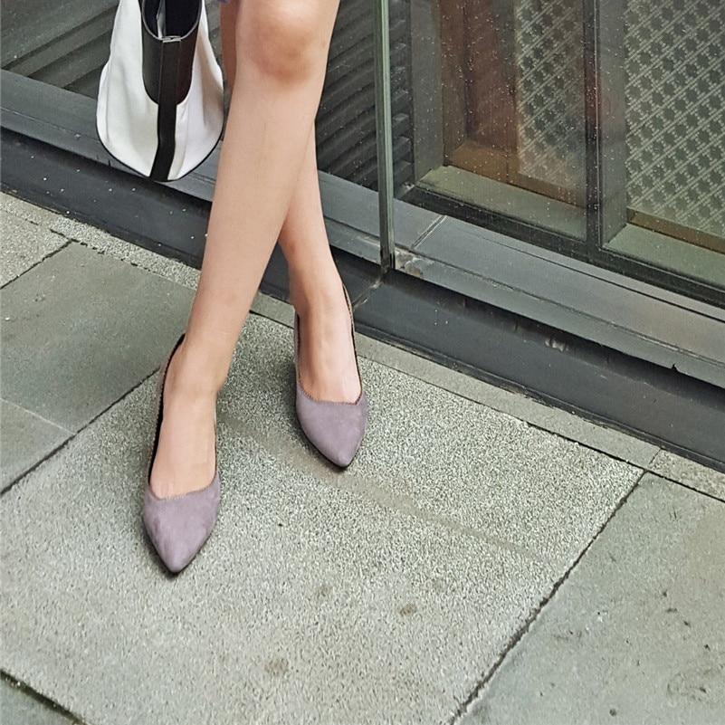 Véritable Confort 1 Cales Bureau Pointu Nouvelles Conasco Talons Femme Pompes Bout Hauts De Cuir Base Noir Chaussures Casual Glissent Sur OxwzqSFfx
