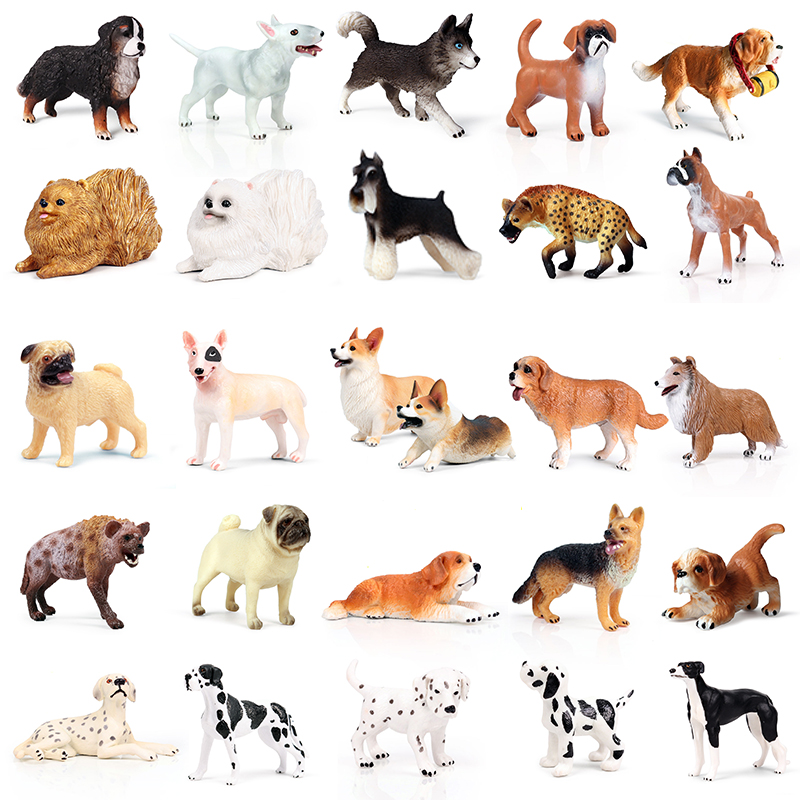 33 Styles Action&Toys Figure Small Mini Family Animal Cute Pet Dog Model Collectible Doll Figure For Kid Children's Gift