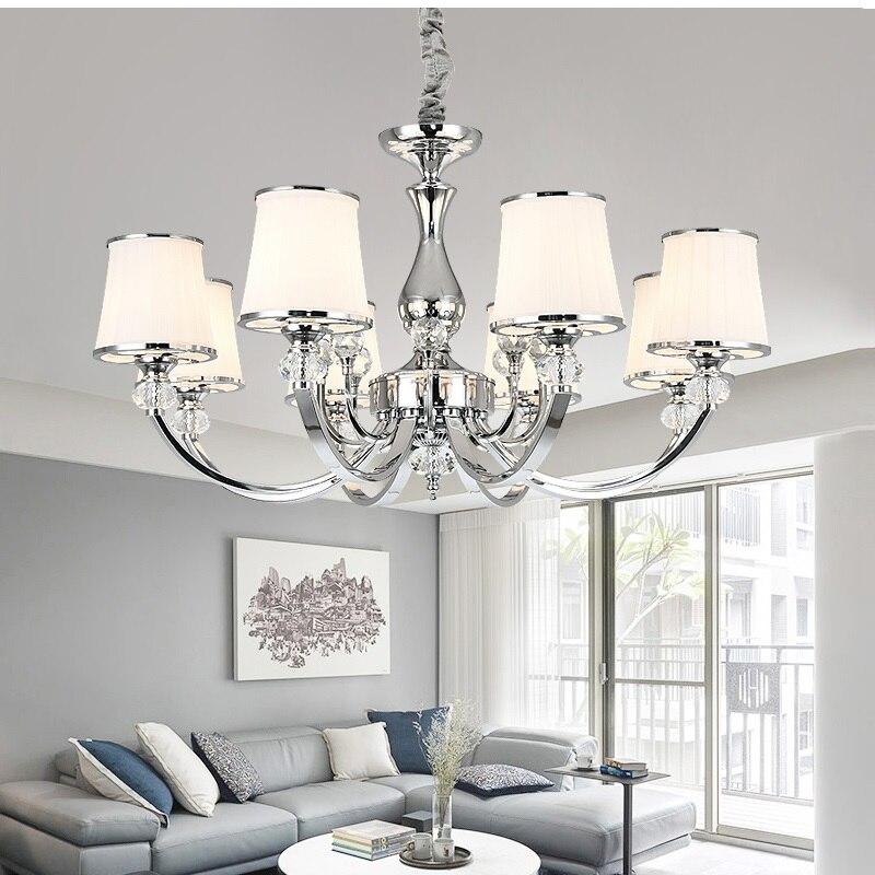 Chrome crystal chandelier lights Modern for living room Bedroom Led Chandelier Lighting Fixture Crystal Lamp E14 led Lighting