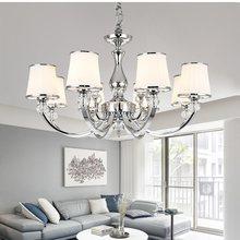 Plafonnier Led en cristal chromé, design moderne, éclairage d'intérieur, luminaire décoratif de plafond, idéal pour un salon ou une chambre à coucher, E14