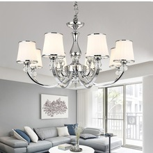 Chandelier-Lights Lighting-Fixture Crystal-Lamp Modern Bedroom Chrome E14 for Led
