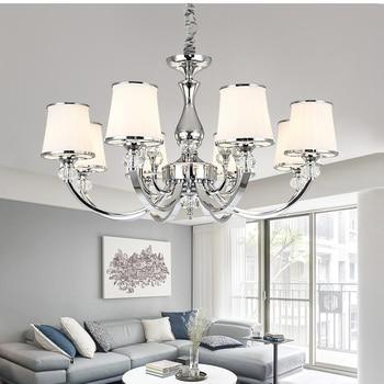 цены Modern crystal chandelier lighting for living room Bedroom Led Pendant Chandelier Lighting Fixture Crystal Lamp E14 led lustre