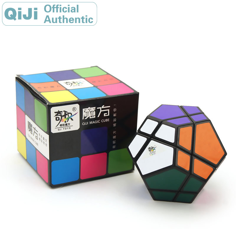 QiJi Megaminxeds Super Magic Cube Velocidade Enigma Cube Neo QJ Dodecaedro Cubo Magico de Pedra Profissional Antistress Fidget Brinquedos