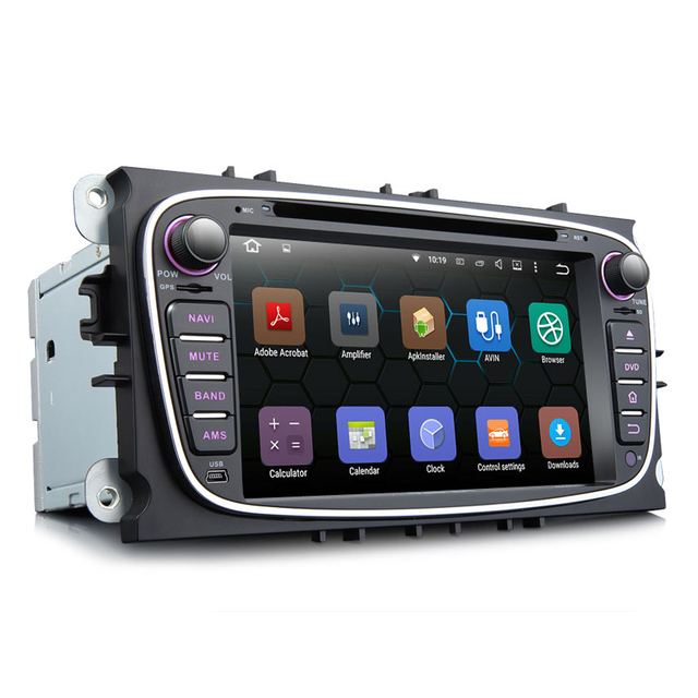Eonon 7'' Android Quad Core 2 DIN Car Radio Player GPS For Ford Mondeo Focus S-max Video Bluetooth Audio CanBus AutoRadio Stereo