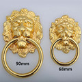 lenth 90mm big lionhead vintage style handles gold drawer cabinet pulls knobs 32mm gold large meatball dresser door handle knob