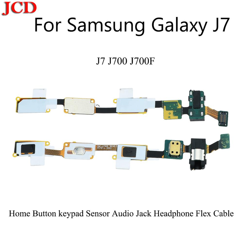 JCD New Home Button keypad Sensor Audio Jack Headphone <font><b>Flex</b></font> Cable For Samsung Galaxy J7 <font><b>J700</b></font> J700F Replacement parts image