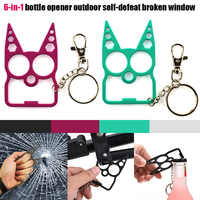 Portable Cute Cat Opener Screwdriver Keychain Self-defense Multifunction Outdoor Gadgets MSD-ING