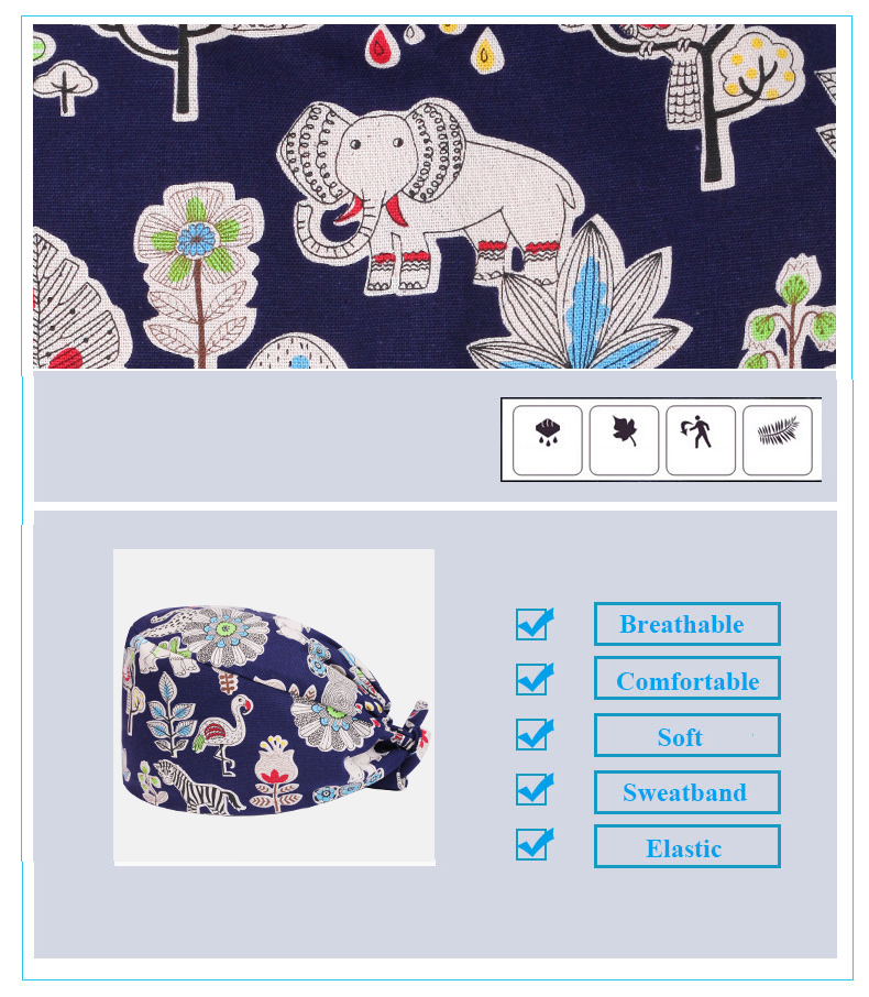 Pixie Scrub Cap Sewing Pattern Surgical Hat Women and Men 100 ...
