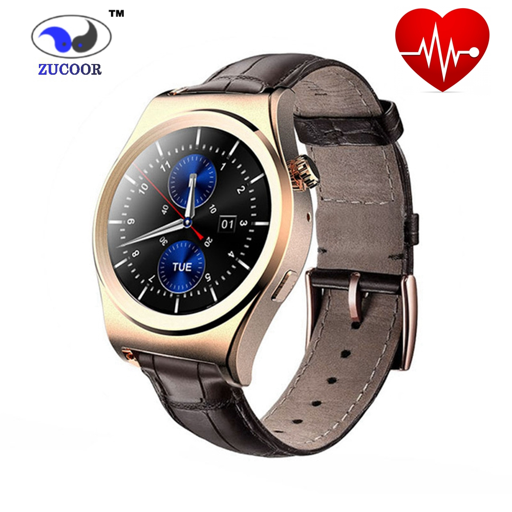 ФОТО Smart Watch Heart Rate Monitor Smartwatch Bluetooth ZW48 Round Sport Clock MP3 MP4 Wristwatch For iOS Android Xiaomi Samsung Men