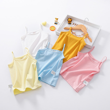 2019 Summer Girls Tanks Children Vest Baby Pretty Beach Clothing Wear Tops Cotton Sleeveless Cool Fabric