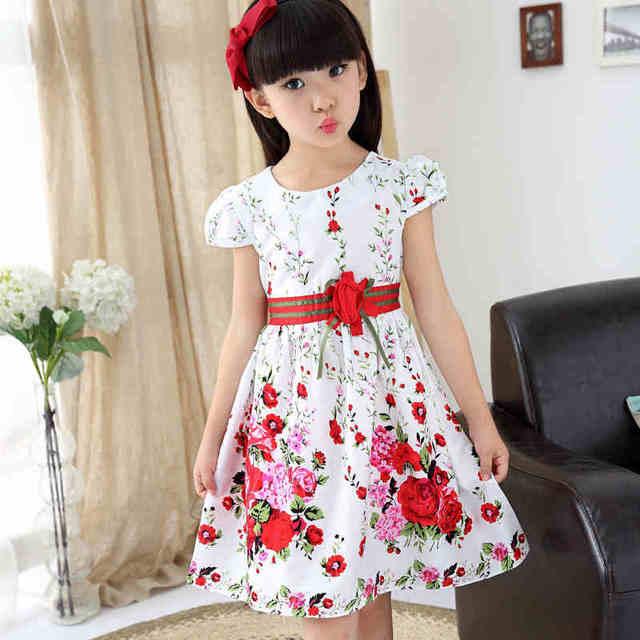 Girl Dresses Summer 2017 Brand Girls Party Dress Kids Girl Princess Dress Floral Children Clothing vestidos de fiesta