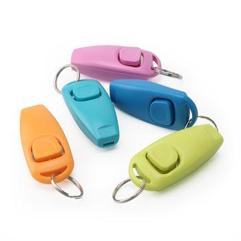 1 sztuk kot domowy Dog clicker do szkolenia plastikowe psy Click Trainer Key Ring Pet Sound Interactive Aid Tool 10 kolorów tanie i dobre opinie PIANG DUNER Szkolenia Clickers Z tworzywa sztucznego Multi-function Dog Training