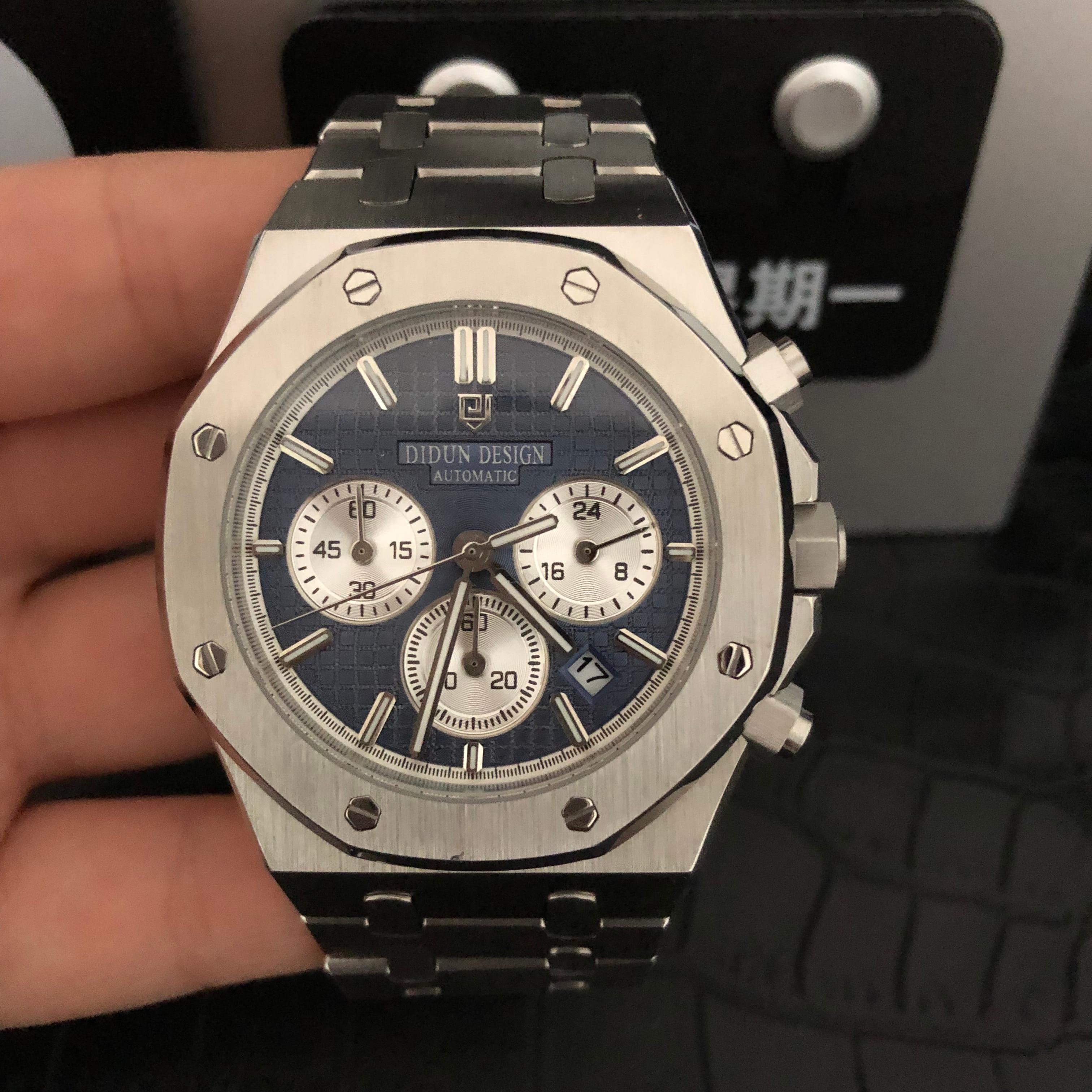 DIDUN montre hommes de luxe en acier quartz montre hommes d'affaires chronographe montre sport montres 30M étanche