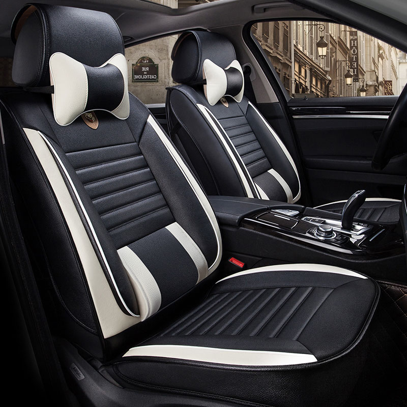 Leather Universal Car Seat Cover Front Rear Seats