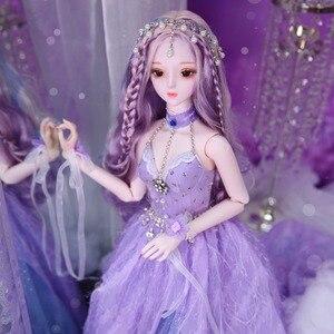 Image 3 - DBS Hada de los sueños 1/3 bjd 60cm, muñeca articulada, cuerpo SD, juguete que Incluye zapatos para vestido de pelo, tocado, regalo para niña
