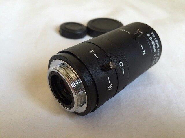 """IRIS manuel ZOOM 6-60mm CS C monture lentille pour Microscope CCTV 1/3 """"CCD puces"""