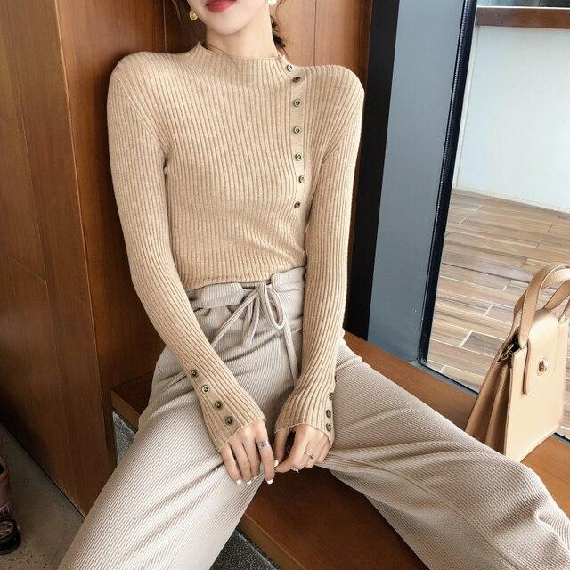 Button Turtleneck Sweater  3