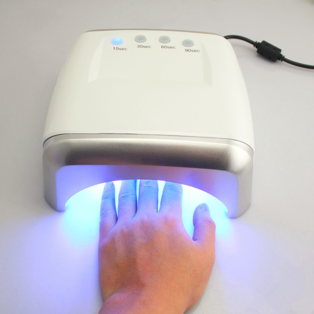 60W LED UV Lamp Nail Dryers 100-240V For Art Manicure Gel Polish Curing 2017 Best Selling