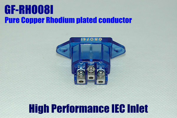Free shipping One Red Copper Rhodium Plated Gaofei GF-RHO08I IEC AC Inlet socket audio grade