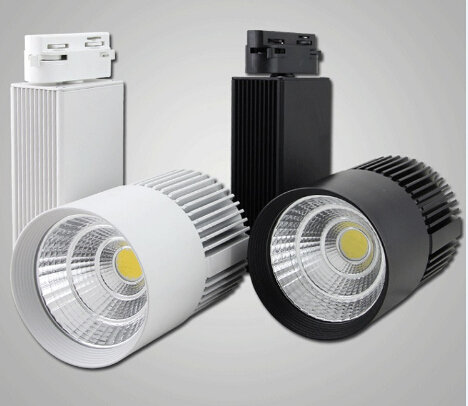 Haute Puissance LED Lumière De Voie 30 W COB Rail Lumière Projecteur Égal à 300 w Lampe Halogène 110 v 120 v 220 v magasin décoration