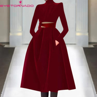 Women Wine Red Long Velvet Dress 2019 Autumn Winter Slim Formal Dress Elegant Hollow Out Patchwork Party Work Maxi Dresses E6749