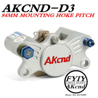 AKCND Universal CNC Motorcycle Scooters 84mm Brake Calipers With 2*34mm Piston For Yamaha Honda Kawasaki Suzuki moto Racing