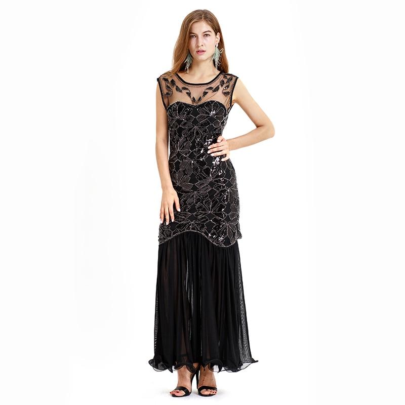 US $34.2 10% OFF Sequins Latin Dance Dress Great Gatsby Dress Flapper Girls  Dresses Plus Size U Neck Sleevless Long Skirt Party Mini Dresses-in Latin  ...