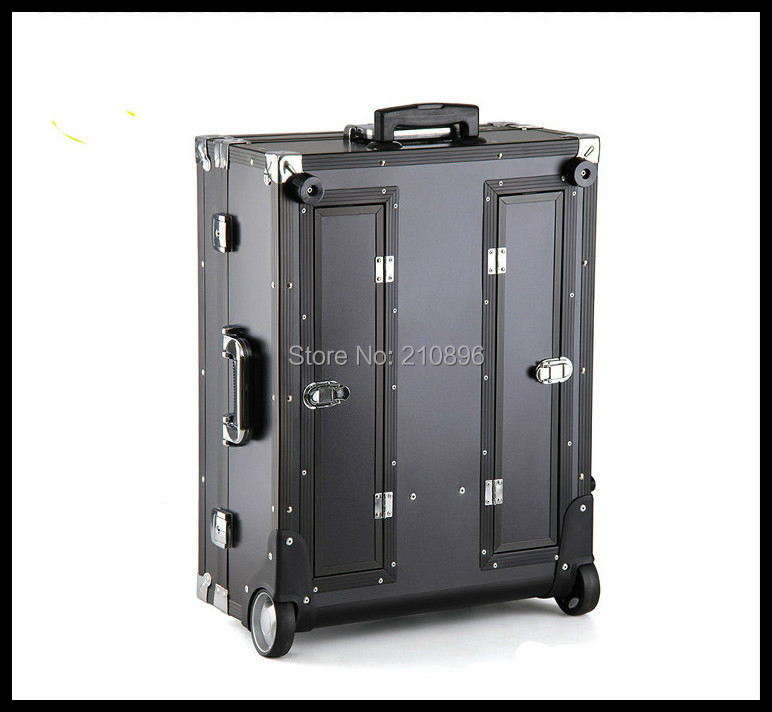 Heavy Duty Professional Trolley Makeup Case With Lights, Mirror, PVC  Cosmetic Makeup Station Studio In Cosmetic Bags U0026 Cases From Luggage U0026 Bags  On ...