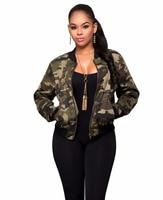 Londinas Arche Shop Neue High-End Camouflage Frauen Mantel Jacke Herbst Mode Militär Armee Grün Jaqueta Feminina Bomberjacke