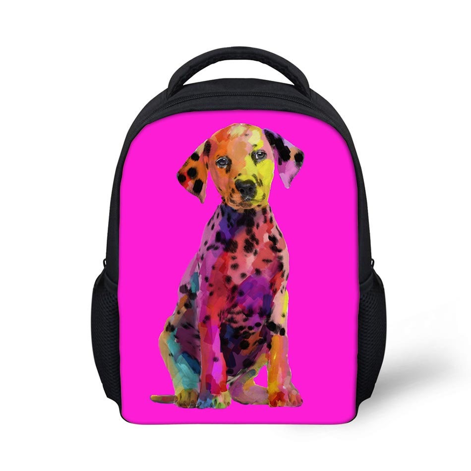 Sexy Puppies 3D Printing Shoulder Backpack for Teen students kid gifts bag Customize image Children Schoolbag