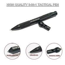3 In 1 Military Tactical Pen Tragbare Selbstverteidigung Werkzeug Notfall Pfeife Fenster Breaker Für Outdoor Camp Überleben EDC Werkzeug