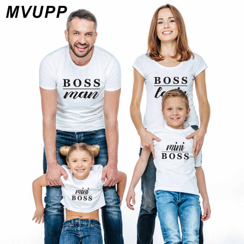 21a5e8e203 Family Matching Outfits Father Mother Daughter Son Clothes Look tshirt  daddy mommy and me dress mom