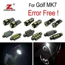 14 шт. х Декодер+ фонарь освещения номерного знака для VW Golf 7 хэтчбек MKVII MK7 гольф для автомобиля с кузовом универсал VII светодиодные лампы внутреннего освещения свет комплект