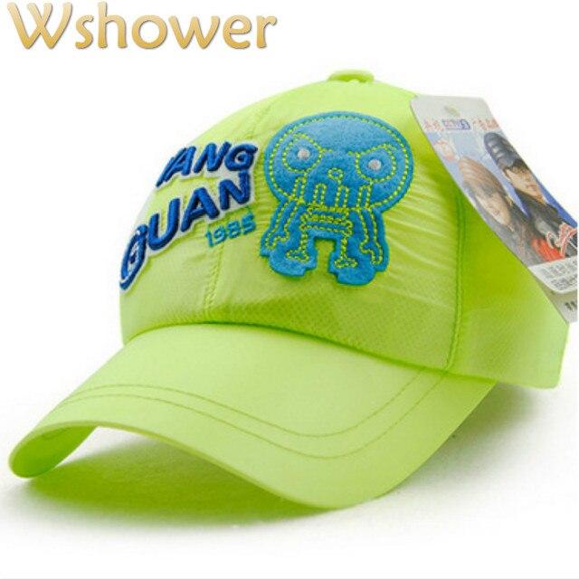 JAMONT 5 Colors Breathable Mesh Children Summer Hat Cartoon octopus  Baseball Cap Hip Hop Boy Girl Snapback Hat Kids Sun Bones df7287fda60