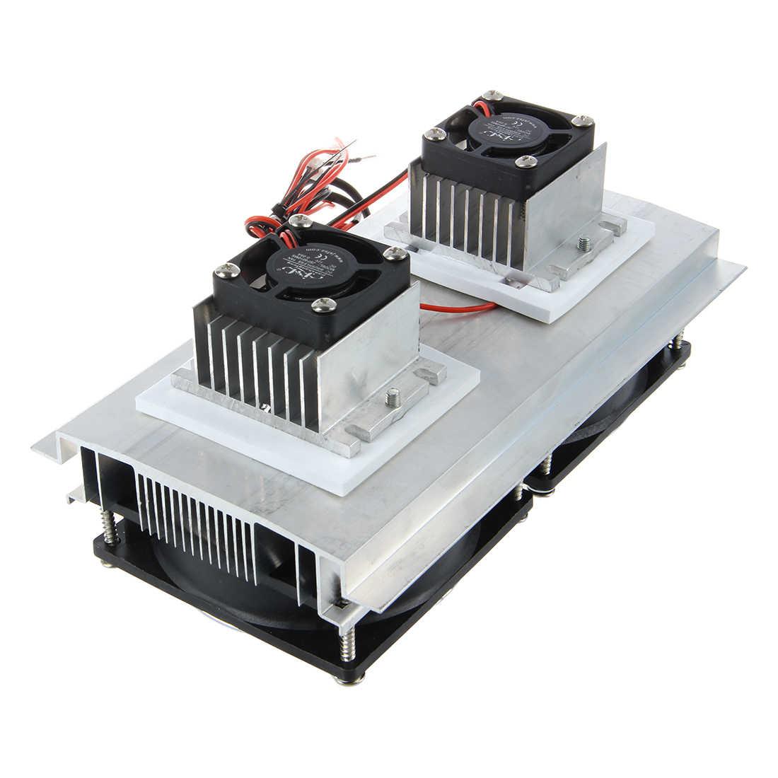Thermoelektrische Peltier Kälte Kühlsystem Kit Kühler Doppel Fan DIY