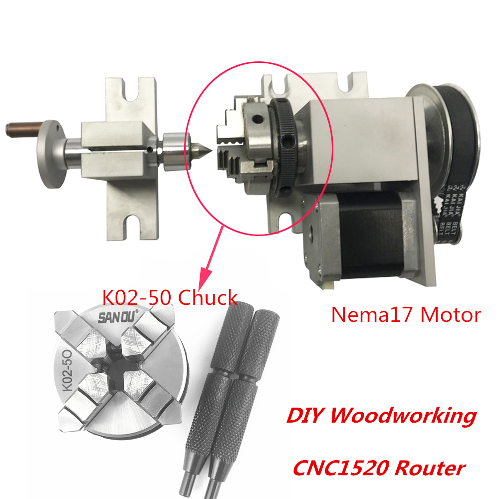Rotary Tables Cnc Router Rotational Rotary Axis Tail Stock For Croll 4th Axis 3 Jaw Chunk Cnc Metalworking Manufacturing Passionedu Vn
