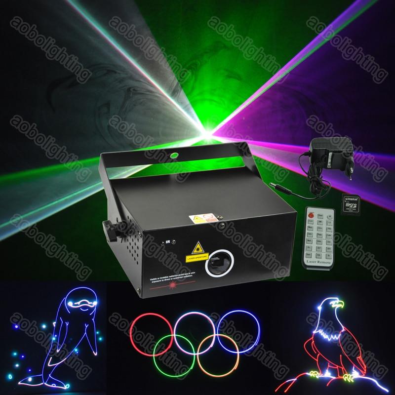 350mW carte SD 15K RGB dessin animé Animation Laser dj karaoké disco lumières Laser spectacle