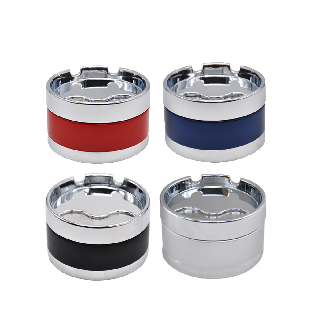 with cover multi-function car interior with light portable smokeless cylinder Ashtray Car ashtray with car logo Nissan dedicated removable cup holder Color : D
