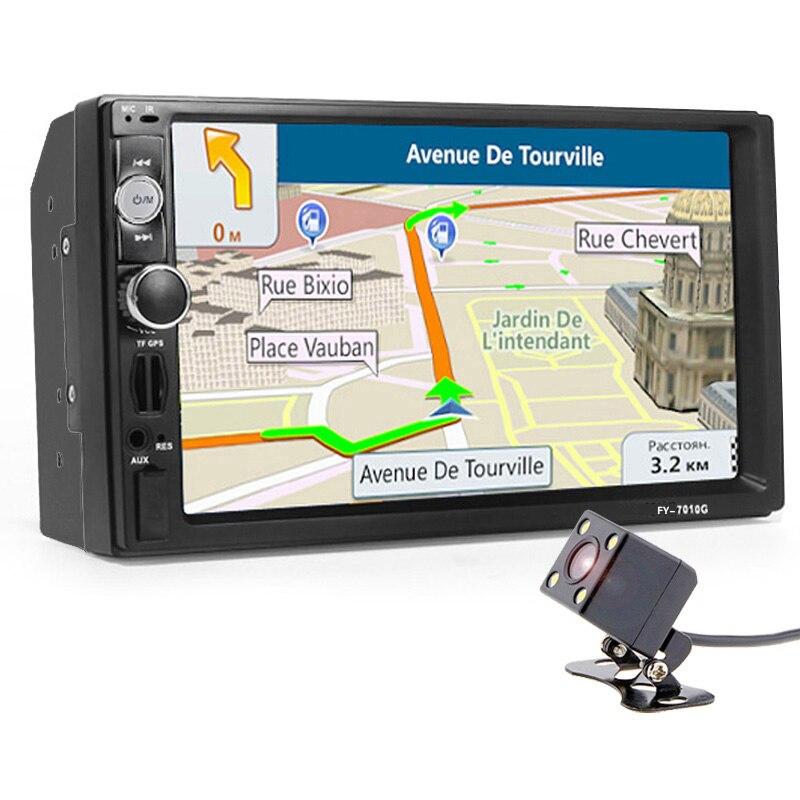 Autoradio 2 din Navigation GPS Lecteur Avec Caméra Carte 7 HD Écran Tactile Bluetooth MP3 MP5 Stéréo Audio Automatique électronique Autoradio