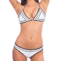 PURUIDA 2016 New Handmade Crochet Bikini Women Swimsuit Bodysuit Swimwear Female Brazilian Bikini Set Beach Wear