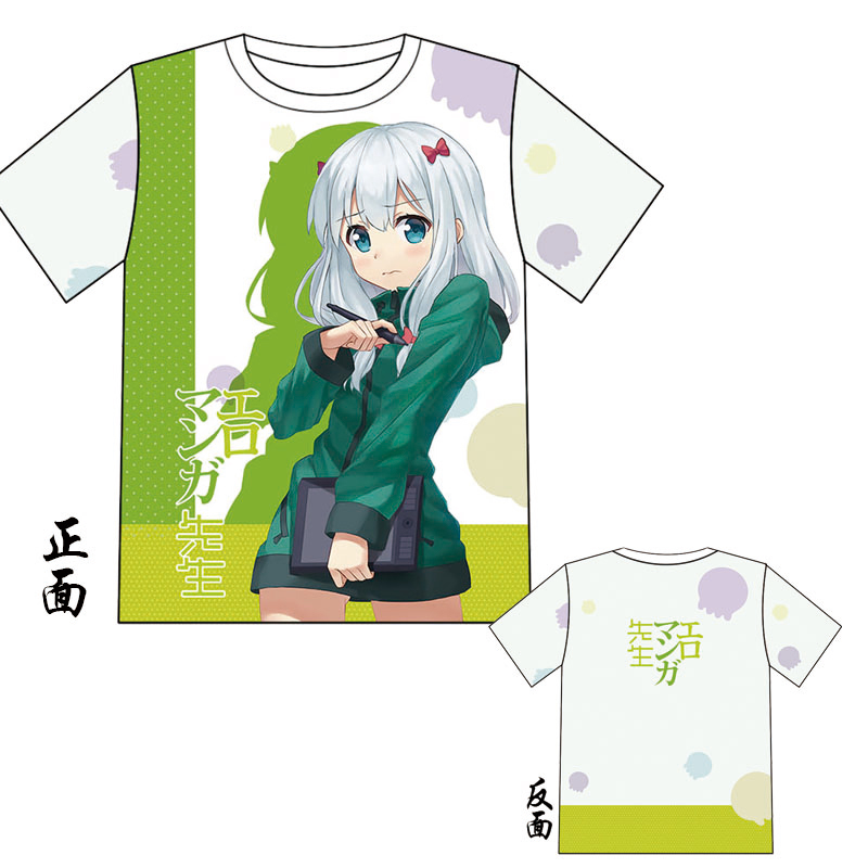 Eromanga Sensei Izumi Sagiri Fashion Japanese Anime Clothing Short Sleeve Casual T-shirt Women