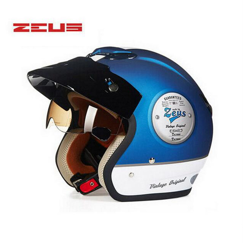 цена на ZEUS ZS-381C motorcycle spitfire the helmet visor,four seasons electric open 3/4 scooter motorbike helmet M L XL XXL