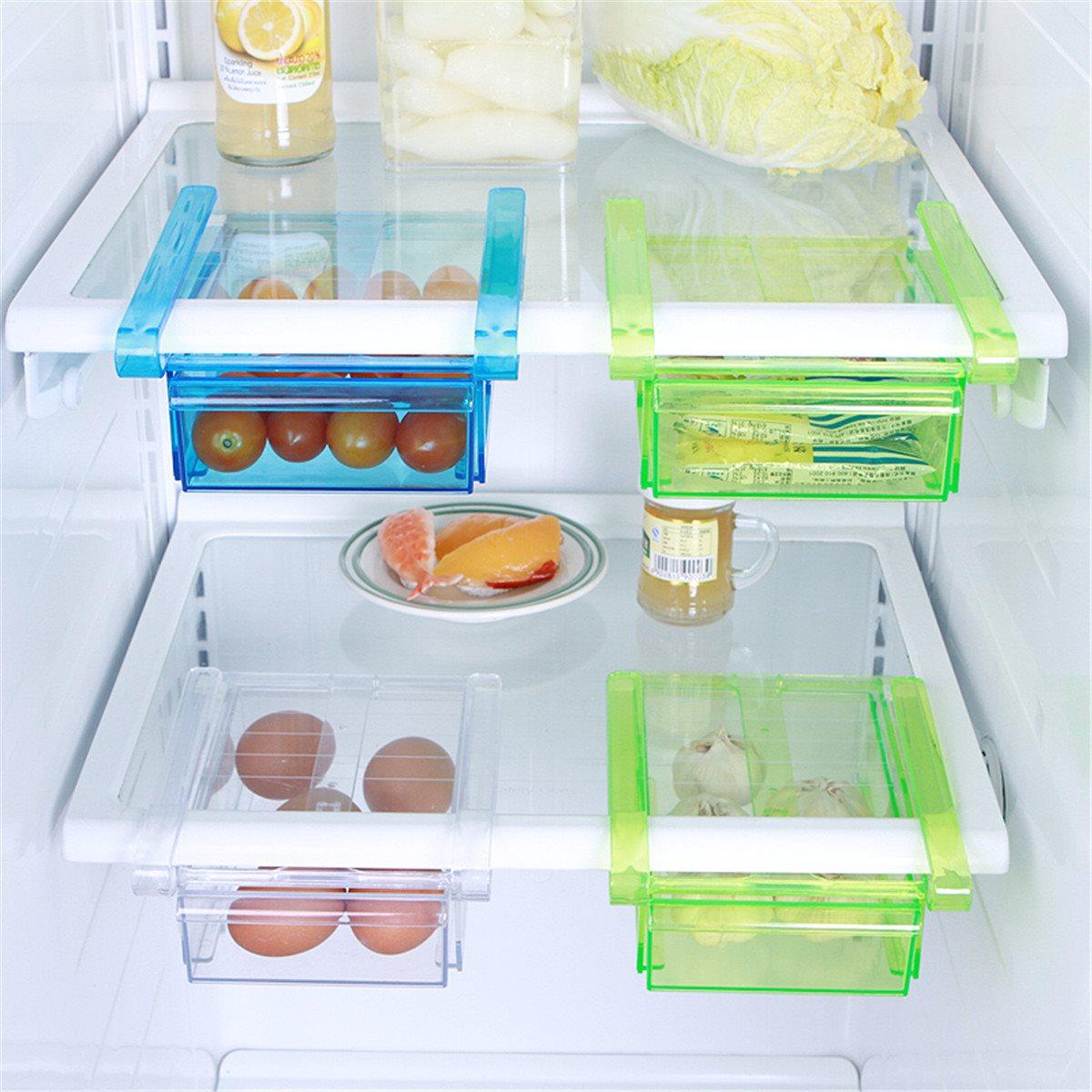 Plastic Kitchen Refrigerator Fridge Freezer Shelf Holder Storage ...