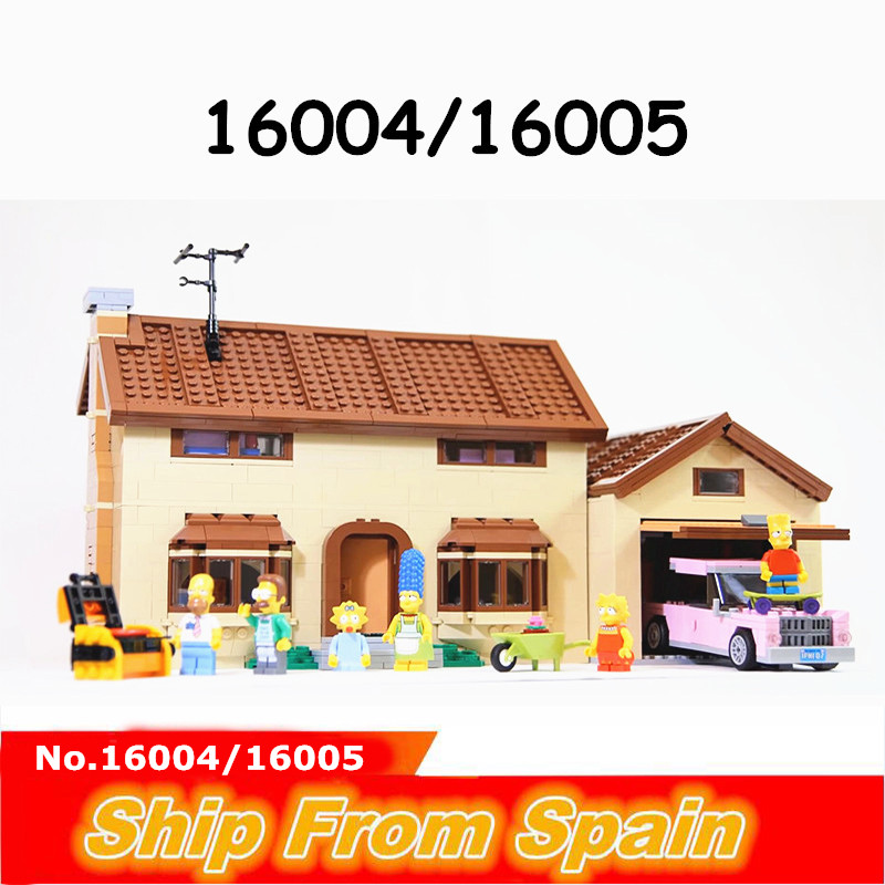 16004 16005 ship from SPAIN KWIK E MART Cartoon House Building Blocks Bricks city 71016 71006