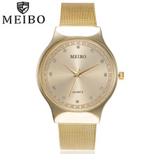 Women mujer clock Quartz Wrist Watch MEIBO relogio feminino