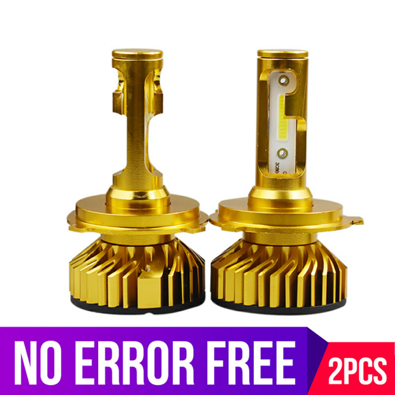 Gold 2Pcs Car Headlight Bulbs H7 <font><b>led</b></font> <font><b>H4</b></font> H1 H11 H8 Hb4 CANBUS no error Turbo <font><b>led</b></font> 72W <font><b>10000lm</b></font> 6000K 4300K 8000K Auto Fog lamp image