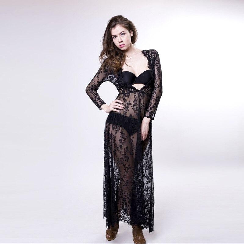3bfa7e60fe20d US $18.59 7% OFF|New vestidos 2019 Women White Lace Dress Sexy Bandage  Bodycon Dress Celebrity Sexy Deep V Neck See through Sheer Clubwear  Dress-in ...