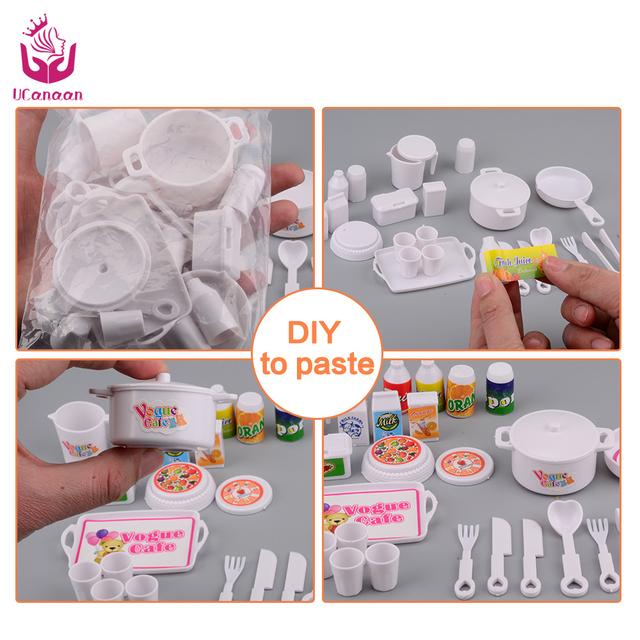UCanaan 25 pcs Vogue Cafe Plastic Dinner Set Toy